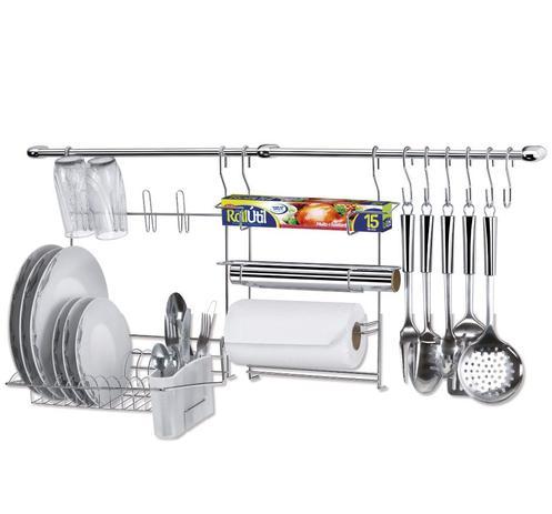 Imagem de Suporte para utensílios na parede com escorredor cook home 9 11 peças