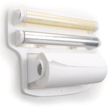 Imagem de Suporte Porta Papel Toalha Triplo Em Plástico Branco - ARTHI