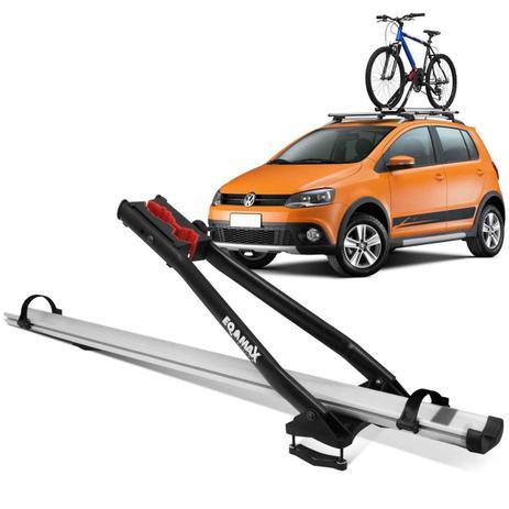 232639fc2 Suporte Transbike para Rack de Teto Eqmax Velox Aluminium Prata Capacidade  1 Bicicleta