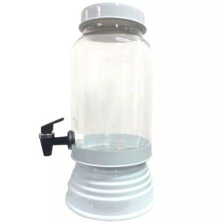 Imagem de Suqueira de Vidro Com Base em Alumínio 3250 Ml - Branca