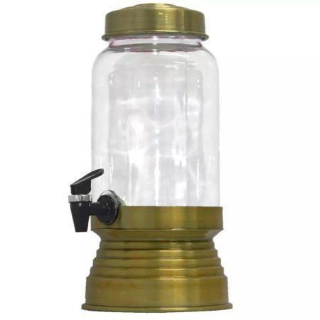 Imagem de Suqueira de Vidro Com Base em Alumínio 3250 Ml - Dourada
