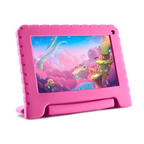 Imagem de Tablet Kid Pad Lite Multilaser 7 Pol. 8GB Quad Core Android 8.1 Rosa  NB303