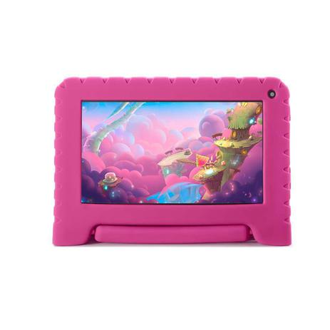 Imagem de Tablet Kid Pad Lite Quad Core 1GB RAM Android 8.1 GO Dual Câmera 1.3 e 2MP Tela 7'' 16Gb Bluetooth Rosa NB303 Multilaser