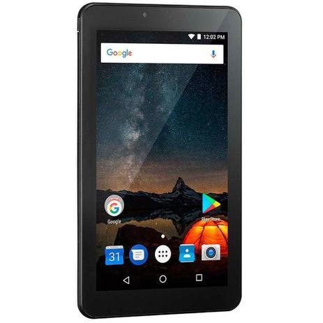 Imagem de Tablet M7S Plus Wi-Fi e Bluetooth Quad Core Memória 16GB 7 Pol. Câmera Frontal 1.3MP e Traseira 2.0MP 1GB RAM Android 8.1 Preto Multilaser NB298
