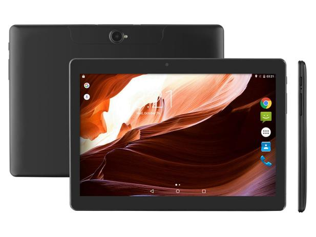 "b9440e7e52e46 Tablet Multilaser M10A 16GB 10"" 3G Wi-Fi - Android 7 Nougat Proc. Quad Core  Câm 5MP + Frontal"
