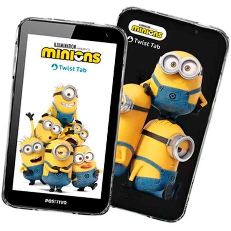 "Imagem de Tablet Positivo Twist Tab Minions T770KM Preto, Quad Core 32GB, WI-FI, Tela de 7"""