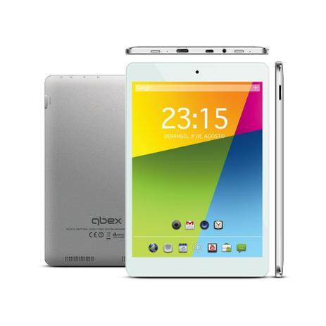"Tablet Qbex TX240 7.85"" 8GB Dual Core A23 Cinza"