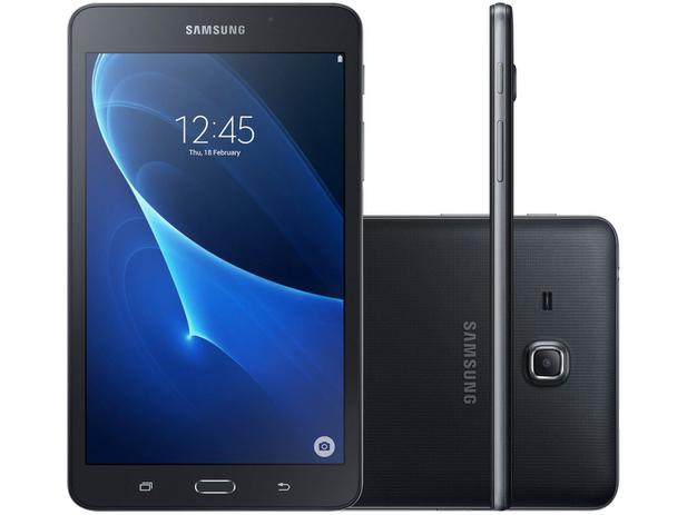 "Tablet Samsung Galaxy Tab A 8GB 7"" Wi-Fi - Android 5.1 Proc. Quad Core Câmera 5MP + Frontal"