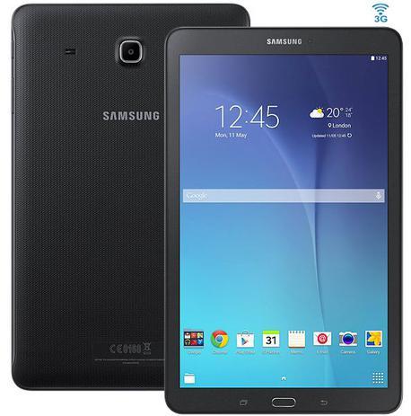 Imagem de Tablet Samsung Galaxy Tab E T561M 3G - Tela 9.6, Android, Wi-Fi, 8GB, Quad-Core - Preto