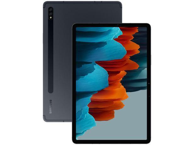 """Imagem de Tablet Samsung Galaxy Tab S7 com Caneta 11"""" 4G / Wi-Fi 256GB Android Octa-Core Câm. Dupla + Selfie"""