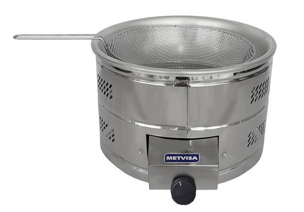 Imagem de Tacho de fritura a gás Metvisa 6 litros TFG6
