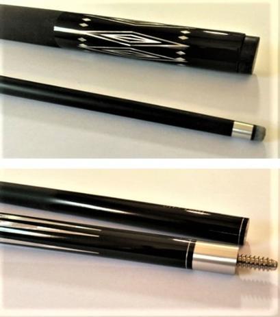 Imagem de Taco de bilhar Profissional em Fibra de vidro Cor preto Importado