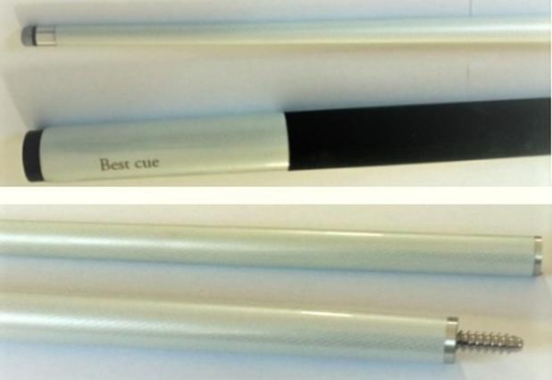 Imagem de Taco de bilhar Profissional em Fibra de vidro na Cor branco Importado
