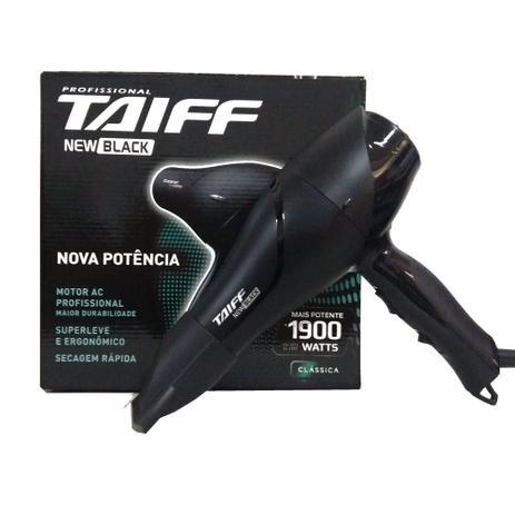 5e4c086ae Taiff new black secador 1900w - Secador de Cabelo - Magazine Luiza
