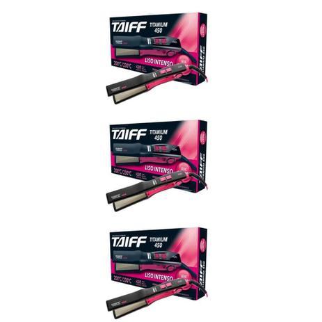 Imagem de Taiff Titanium 450 Colors Chapa Capilar Pink Bivolt (Kit C/03)