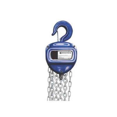 Imagem de Talha manual 500kg com corrente de 3 mt de elevação - 8246 - bremen