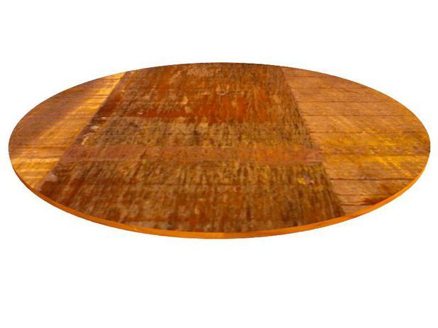 Imagem de Tampo Redondo 70x70x2cm Para Mesa Madeira Demolição Peroba Rosa