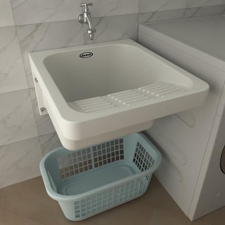 Imagem de Tanque de Lavar Roupa Perfecta Jacuzzi Branco