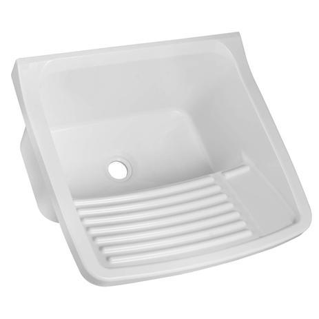 Imagem de Tanque Simples para Lavar Roupas 15L Astra Branco