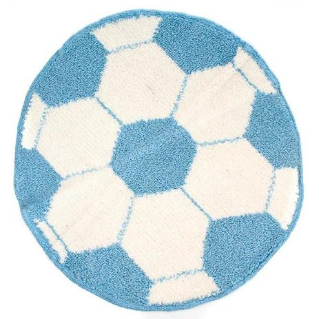 f134f8c37 Tapete Bola De Futebol (070 Diam. - Tapeçaria nina - Tapete ...
