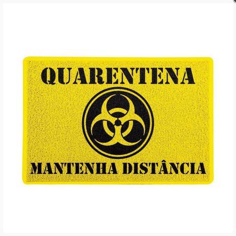 Imagem de Tapete Capacho 60x40cm Quarentena Mantenha Distância