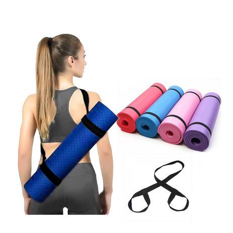 Imagem de Tapete Colchonete Yoga Pilates Fitness Ginastica 170x60cm- Com Alça