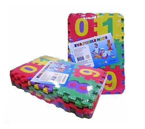 Imagem de Tapete de eva letras e números 36 peças 9x9cm