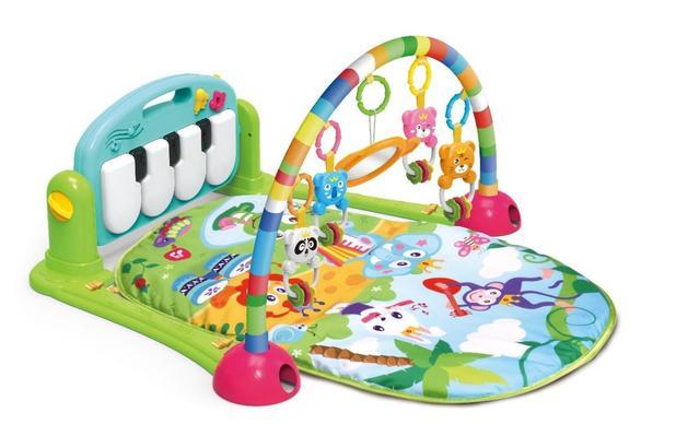 Imagem de Tapete Estimulador De Bebê Musical Toca Piano Happy Verde - Color Baby