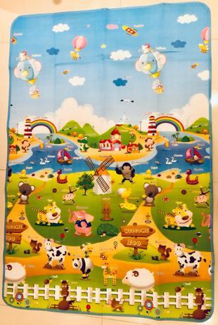 Imagem de Tapete Infantil Dobrável Térmico com Bolsa para Transporte 1,80X1,2metros - Zoo