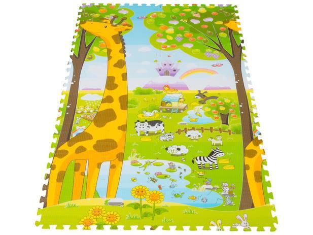 Tapete Infantil Girafa ABC Encaixar 1,20x1,80m - Dupla Face Ibimboo