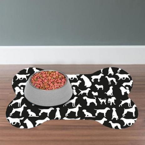 Imagem de Tapete jogo americano pet dog preto