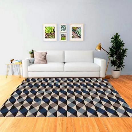 Imagem de Tapete Mosaico Efeito 3D Antiderrapante Sua Casa Elegante Moderno Color Sala e Quarto Casa Dona