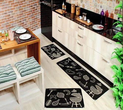 Imagem de Tapete para Cozinha Kit com 3 Peças Sisal Sislle Lancer