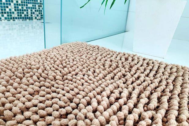 Imagem de Tapete  Para Sala Quarto Cozinha Banheiro Super Macio - Bolinhas Premium Grande 50x80