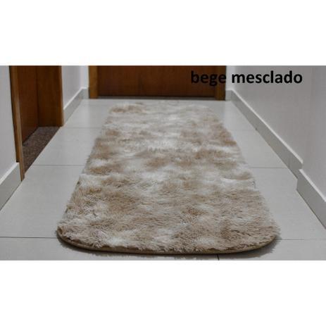 Imagem de Tapete Passadeira 2,00 X 0,60 Quarto Cozinha Corredor Bege / Mesclado