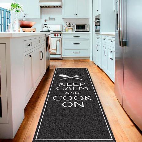 Imagem de Tapete Passadeira de Cozinha Keep Calm And Cook On-40 x 120
