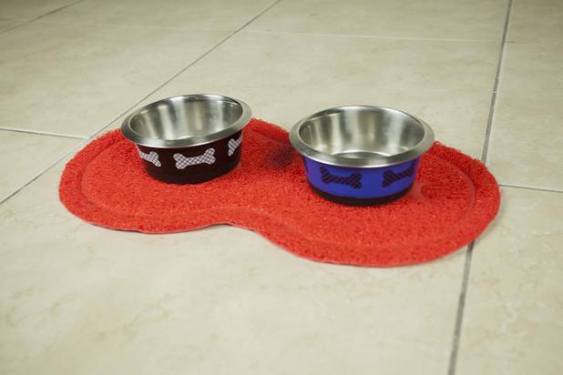 Imagem de Tapete pet oval  vermelho - loaní