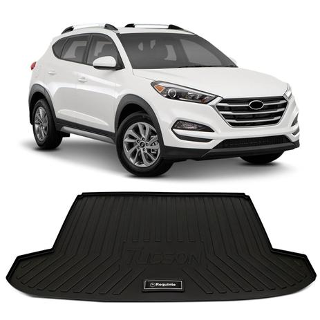 Tapete Porta Malas Bandeja Hyundai Tucson 2017 e 2018 Preto Fabricado em PVC  com Bordas de Segurança - Requinte tapetes 5bb2ddf9a8