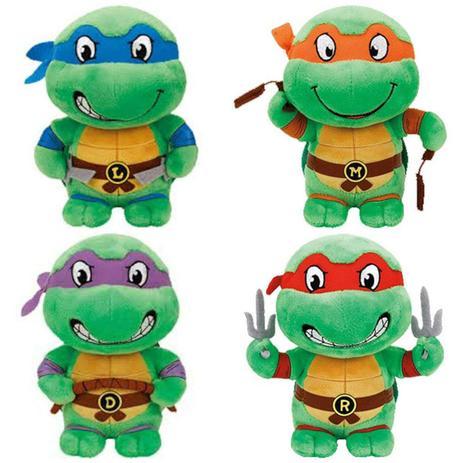 Tartarugas Ninja De Pelucia 16cm Dtc Colecao Com As 4 Tartarugas