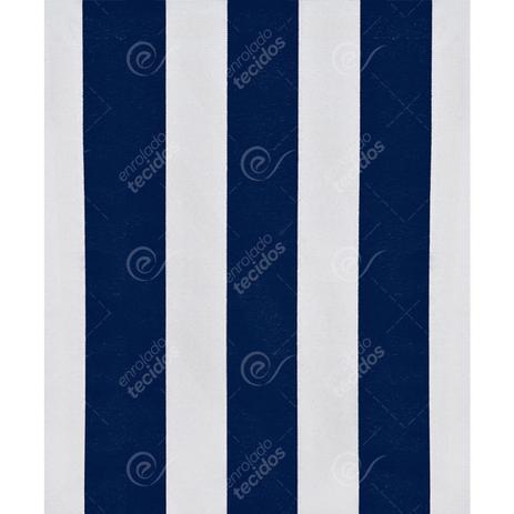Imagem de Tecido Gorgurinho Listrado Azul Marinho e Branco - 1,50m de Largura