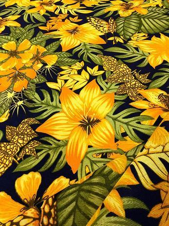 Imagem de Tecido para decoração Gorgurinho floral amarelo