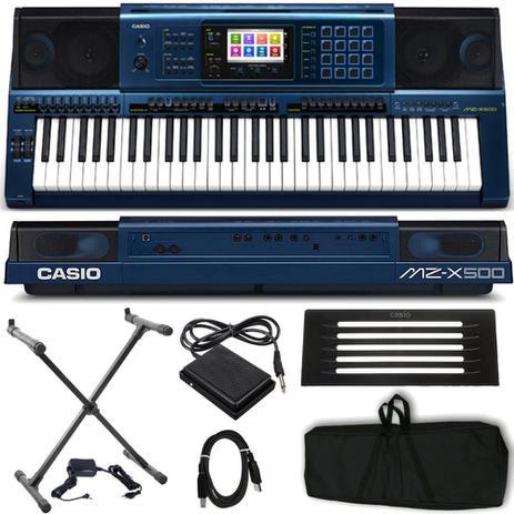 a7841939419d Teclado Arranjador Casio MZ-X500 - Teclado Musical - Magazine Luiza