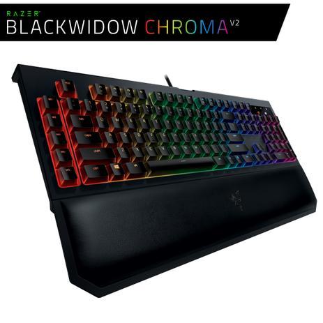 Imagem de Teclado Gamer Razer Blackwidow Chroma V2 PT Mecânico - Razer Switch Green