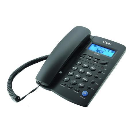 Imagem de Telefone com Fio ID Viva-Voz TCF 3000 Preto  ELGIN
