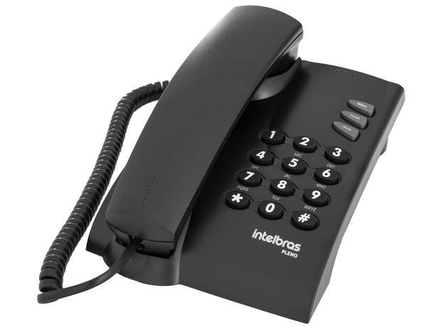 Telefone Com Fio Intelbras Pleno - Preto - Telefone com ...