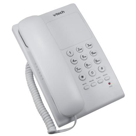 Imagem de Telefone de Mesa e Parede Digital com Fio VTC105W Vtech Branco