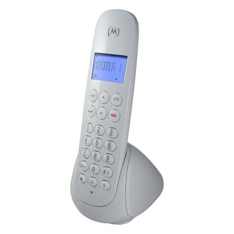 Imagem de Telefone Digital sem Fio Motorola MOTO700W com Identificador de Chamadas Branco