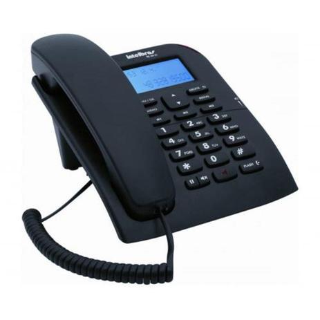 Imagem de Telefone Intelbras Com Fio E Identificador De Chamada Preto TC60ID