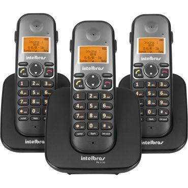 Imagem de Telefone Sem Fio Com 2 Ramais Adicionais TS 5123 Intelbras