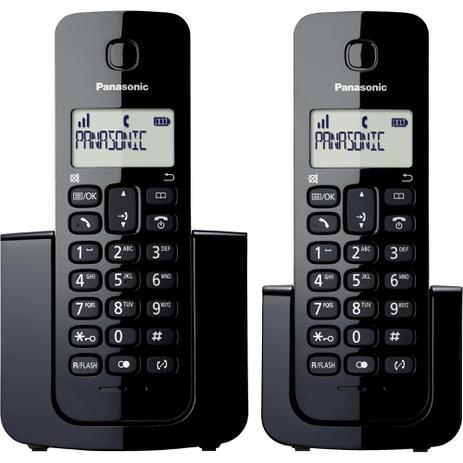 Imagem de Telefone sem Fio com ID Base + Ramal KX-TGB112LBB Preto PANASONIC